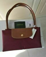 Longchamp New Le Pliage Nylon Tote Handbag Wine Large Bag