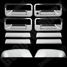 Chrome Covers Upper Mirror & 4 Door Handles W/O PSG KH For CHEVY Tahoe 1995-1999