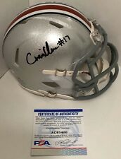 Chris Olave Signed Autographed Ohio State Buckeyes Mini Helmet Champs Psa/Dna