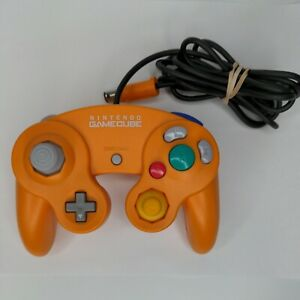 Official OEM Nintendo GameCube Orange Controller DOL-003 Tested, Good Condition
