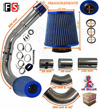 UNIVERSAL PERFORMANCE COLD AIR FEED PIPE AIR FILTER KIT BLUE 2103BF-PGT2