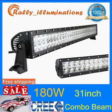 31inch 180W CREE LED Spot Flood 4WD Work Light Bar Offroad UTE Lamp 12V ATV SUV