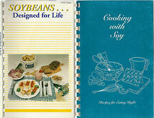 LOT OF 2 VINTAGE SOY BEAN RECIPE COOK BOOKS *SOYBEANS DESIGNED FOR LIFE *COOKING
