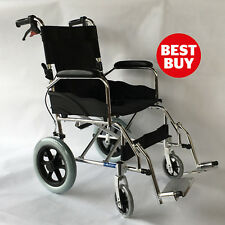 Aluminium Travel Wheelchair - Lightweight  & Fully Folding Attendant Chair