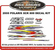 2000 POLARIS INDY XCR 800 Hood Decal Kit   Reproductions
