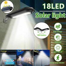 Solar Power 18 LED Dusk to Dawn Light Outdoor Yard Garden Waterproof Wall Lamp