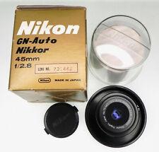 Nikon 45mm f2.8 GN Ai  # 731442 ............ Minty W/Box