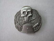 WH Wxx sturmbatailon 24 Pin Skull Armed Forces WK2 WW2 Skull Helmet Badge