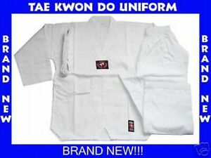 BRAND NEW!! WHITE TAE KWON DO TAEKWONDO UNIFORM SIZE 7