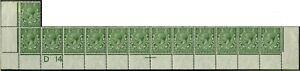 1914 KGV Royal Cypher ½d (D14) Complete Bottom Row SG 351