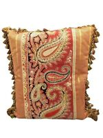 "Antique Paisley Pillow 18""x16"""