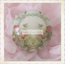 PINK French ROSES Ceramic KNOB door cabinet drawer chic shabby Romantic Vintage