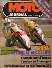 MOTO JOURNAL  370 Test HONDA CB 250 et CB 400 N YAMAHA XS 750 1 GP Hollande 1978