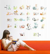 Grande alfabeto ABC Animales cuarto del bebé Infantil Adhesivos De Pared
