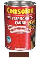 Consolan Wetterschutz-Farbe Braun 2,5 Liter NEUWARE Art. Nr. 5083184