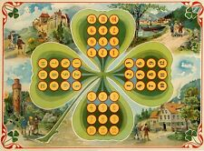 Original Vintage Poster Games Shamrock Irish Poster 1900 French Entertainment