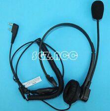 Over Head Headset Boom Mic VOX/PTT For Kenwood Radio Walkie Talkie 2-Pin TK-2101