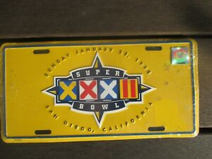 USA Superbowlj  1998 DENVER BRONCOS V GREEN BAY PACKERS NRL NUMBER PLATE