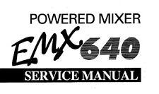 YAMAHA EMX640 POWERED MIXER SERVICE MANUAL BOOK INC CIRCUIT DIAGRAMS IN ENGLISH