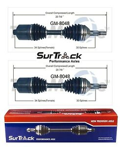 For Chevrolet Malibu Alero Cutlass FWD Pair of Front CV Axle Shafts SurTrack Set