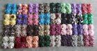 YOYO Quilt Top TABLE RUNNER~MULTICOLORS~28