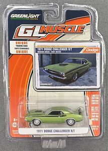 GREENLIGHT GL MUSCLE 1971 DODGE CHALLENGER R/T GREEN LIMITED EDITION 1:64 SCALE