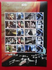 2015 Star Wars Heroes And  Villains Collectors Sheet MINT CONDITION