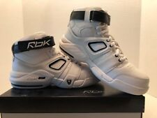 Boy's New Reebok ATR Money Team White and Black Leather Basketball Shoes
