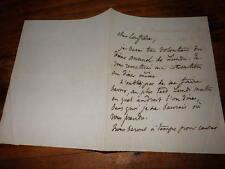 1870.Lettre autographe .Paul de Musset