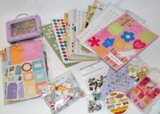 Lot Of Scrapbook & Crafting Supplies Stickers Letters Cards Cardboard Frames
