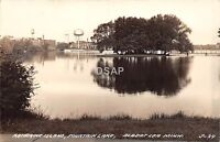 B93/ Albert Lea Minnesota Mn RPPC Postcard c40s Katherine Island Fountain Lake