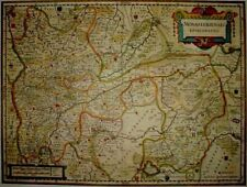 Historische Landkarte Bistum Münster, Lingen, Meppen, Emsland  Stromberg 1658
