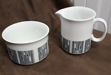 Milk Jug & Sugar Bowl Madison By Alfred Clough LTD Stoke On Trent 1960s Modern