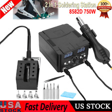 2in1 8582d Smd Soldering Station Iron Hot Air Gun Reworking Station Digital Tool
