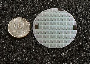 """Rare 2"""" Silicon wafer - 1970's  Syncronar LED watch chips"""
