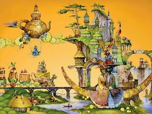 """DAVICI Wooden whimsy jigsaw puzzle. """"Once I Had a Dream"""", 350 pcs."""