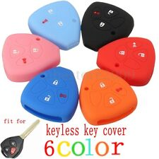 3 Buttons Silicone Cover Remote Key Case Shell Fob For Toyota RAV4 Yaris Matrix