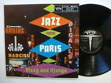 DIZZY and DJANGO Jazz from Paris LP Verve 8015 JAZZ Orig.press   jg201