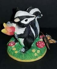 Charming Tails Why Hello There Skunk With Butterfly Silvestri #87357 Excellent