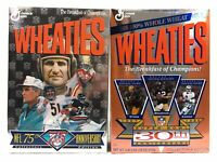 Wheaties Cereal NFL 75th ANNIVERSARY & SUPER BOWL 30th ANNIVERSARY Sealed Boxes