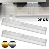 2x Cabinet de Capteurs Mouvement LED Lumières Batterie PIR Armoire Lumière ME
