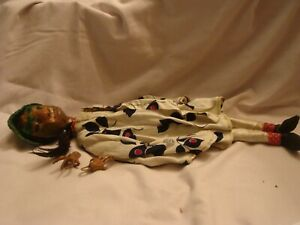 vintage antique ? paper mache and wood oriental doll mid century puppet