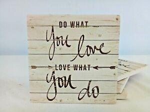 Inspirational Square Ceramic Coaster Set of 4, Do What You Love to Do