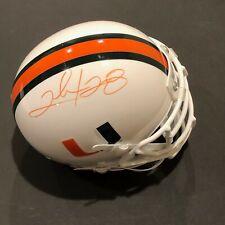 Miami Hurricanes, Clinton Portis singed Riddell Mini Helmet w/JSA