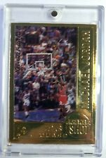 1999 99 Upper Deck 22 Kt Gold Retirement Farewell Shot Michael Jordan, #'d/9923
