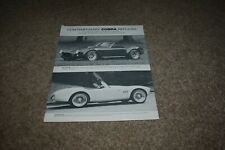 Contemporary Classic Motor Car Cobra Replicas single sheet brochure 289 427