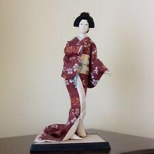 "GOFUN GEISHA Doll  Vtg. 16"" Silk Kimono Glass Eye Estate Find Collector Doll!"