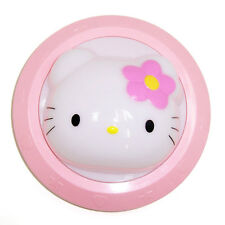 hello kitty head face light up bedside desktop night time light pressed flower