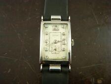 Rare Longines Oversized Platinum Wrist Watch Caliber 25.17 Diamond Dial Running