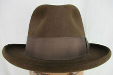 New Handmade by Art Fawcett  Chocolate 100% Beaver Fedora Hat size 7 1/8